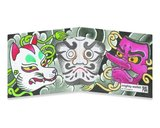 Mighty Wallet Japanese Noh Masks_