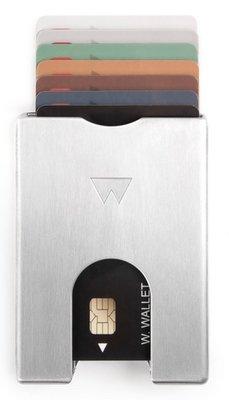 Walter Wallet Raw Aluminium creditcardhouder