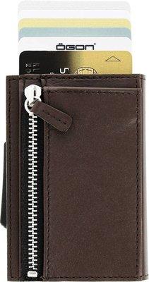 Ögon Cascade Zipper Dark Brown creditcardhouder