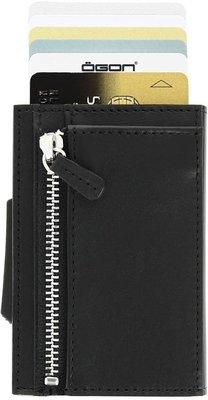 Ögon Cascade Zipper Full Black creditcardhouder