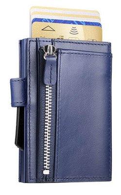 Ögon Cascade Zipper Snap Navy Blue creditcardhouder