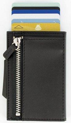 Ögon Cascade Zipper Black Titanium creditcardhouder