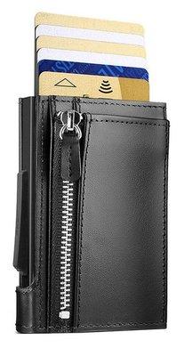 Ögon Cascade Zipper Snap Full Black creditcardhouder