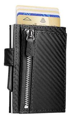 Ögon Cascade Zipper Snap Carbon Silver creditcardhouder