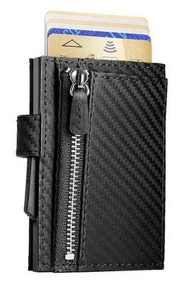 Ögon Cascade Zipper Snap Carbon Black creditcardhouder