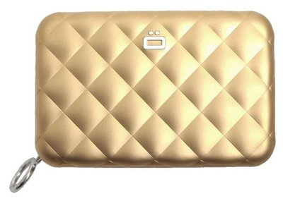 Ögon Quilted Zipper Gold creditcardhouder