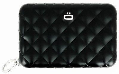 Ögon Quilted Zipper Black creditcardhouder