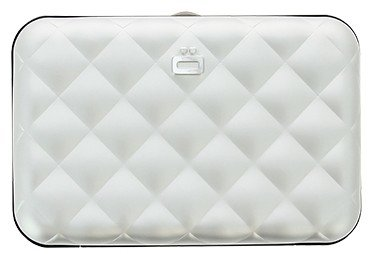 Ögon Quilted Button Silver creditcardhouder