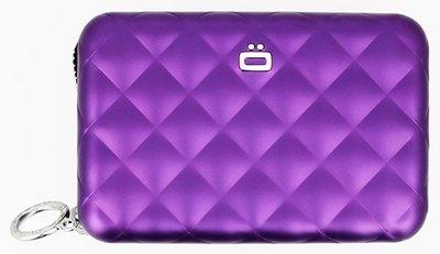 Ögon Quilted Zipper Purple creditcardhouder