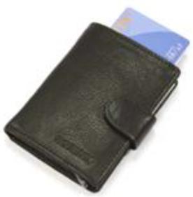 Figuretta Ruime portemonnee zonder muntvak zwart