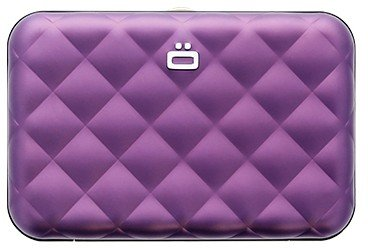 Ögon Quilted Button Purple creditcardhouder