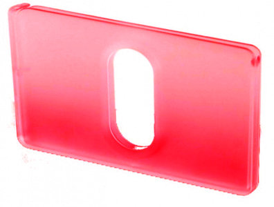 THUMB Transparant Red creditcardhouder