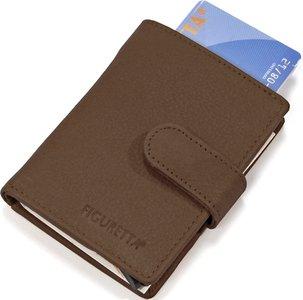 Figuretta Ruime portemonnee zonder muntvak bruin