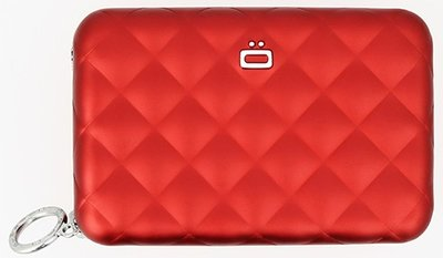 Ögon Quilted Zipper Red creditcardhouder