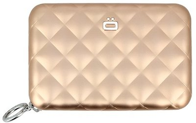 Ögon Quilted Zipper Rose Gold creditcardhouder