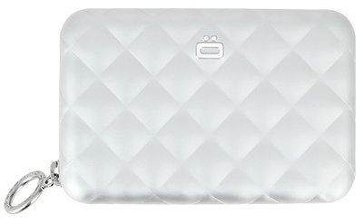 Ögon Quilted Zipper Silver creditcardhouder